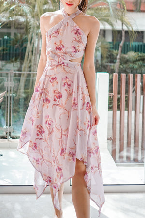 Load image into Gallery viewer, Aliee Floral Assymetrical Dress