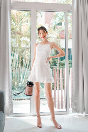 Load image into Gallery viewer, * PREMIUM * Arilia Crochet Dress Romper in White - Self Manufactured by LBRLABEL