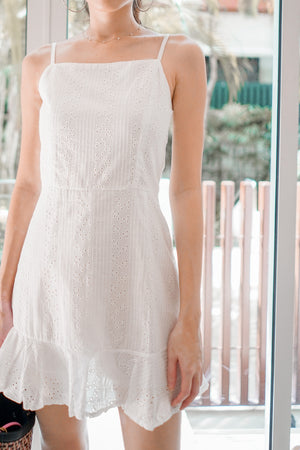 * PREMIUM * Arilia Crochet Dress Romper in White - Self Manufactured by LBRLABEL
