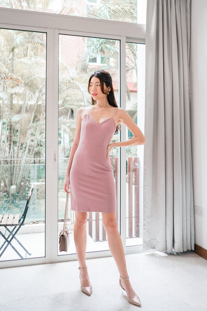 *PREMIUM* - Miolia Midi Dress in Pink - Self Manufactured by LBRLABEL