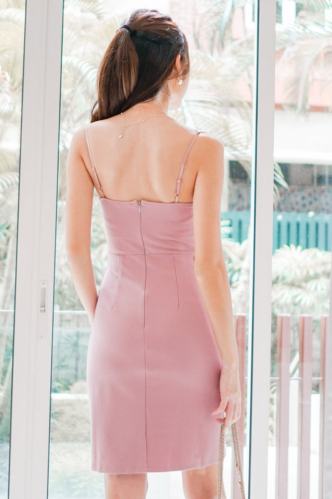 Load image into Gallery viewer, *PREMIUM* - Miolia Midi Dress in Pink - Self Manufactured by LBRLABEL