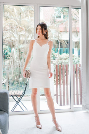 Load image into Gallery viewer, *PREMIUM* - Miolia Midi Dress in White - Self Manufactured by LBRLABEL