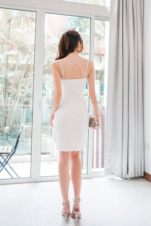 *PREMIUM* - Miolia Midi Dress in White - Self Manufactured by LBRLABEL