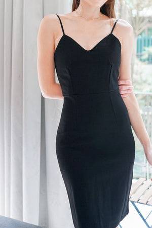 Load image into Gallery viewer, *PREMIUM* - Miolia Midi Dress in Black - Self Manufactured by LBRLABEL