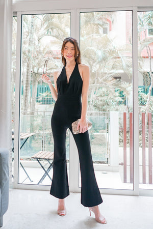 * PREMIUM * - Fiolia Halter Jumpsuit in Black - Self Manufactured by LBRLABEL