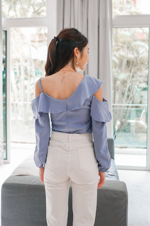 *PREMIUM * - Irolia Flutter Off Shoulder Top in Lilac - Self Manufactured by LBRLABEL