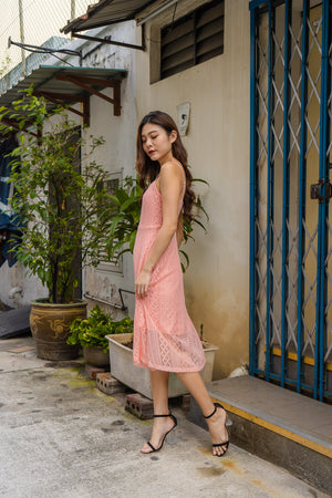 *PREMIUM* - Yenilia Cami Spag Dress in Pink - Self Manufactured by LBRLABEL