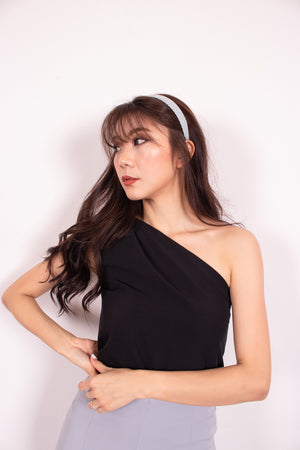 *PREMIUM* - Joceelia Toga Top in Black - SELF-MANUFACTURED BY LBRLABEL