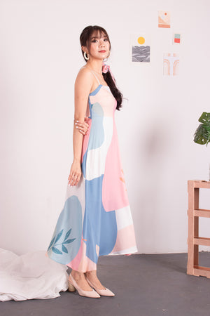Load image into Gallery viewer, *PREMIUM* - Avilia Printed Midi Dress - Self-Manufactured by LBRLABEL