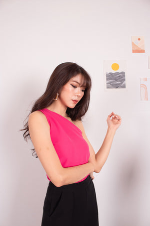 Load image into Gallery viewer, *PREMIUM* - Joceelia Toga Top in Hot Pink - Self-Manufactured by LBRLABEL