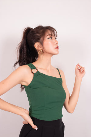 *PREMIUM* - Nancylia Toga Ring Top in Emerald Green - Self-Manufactured by LBRLABEL
