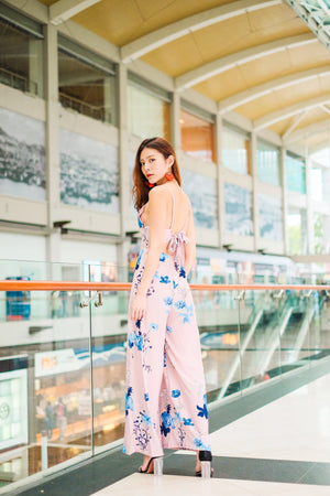 LUXE - Braylee Floral Jumpsuit in Pink