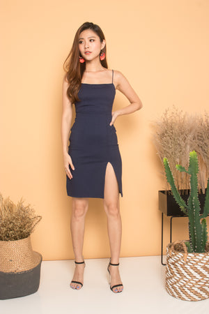 * PREMIUM * Cerdilia Cami 2 Ways Dress in Navy - LBRLABEL MANUFACTURED