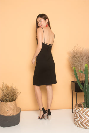 * PREMIUM * Cerdilia Cami 2 Ways Dress in Black - LBRLABEL MANUFACTURED