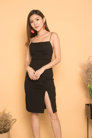 Load image into Gallery viewer, * PREMIUM * Cerdilia Cami 2 Ways Dress in Black - LBRLABEL MANUFACTURED