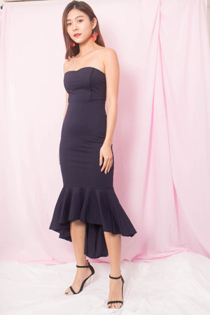 * PREMIUM * Kelia Bustier Gown Dress in Navy - SELF MANUFACTURED BY LBRLABEL