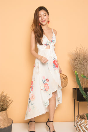 *LUXE* Aerimda Floral Dress in White