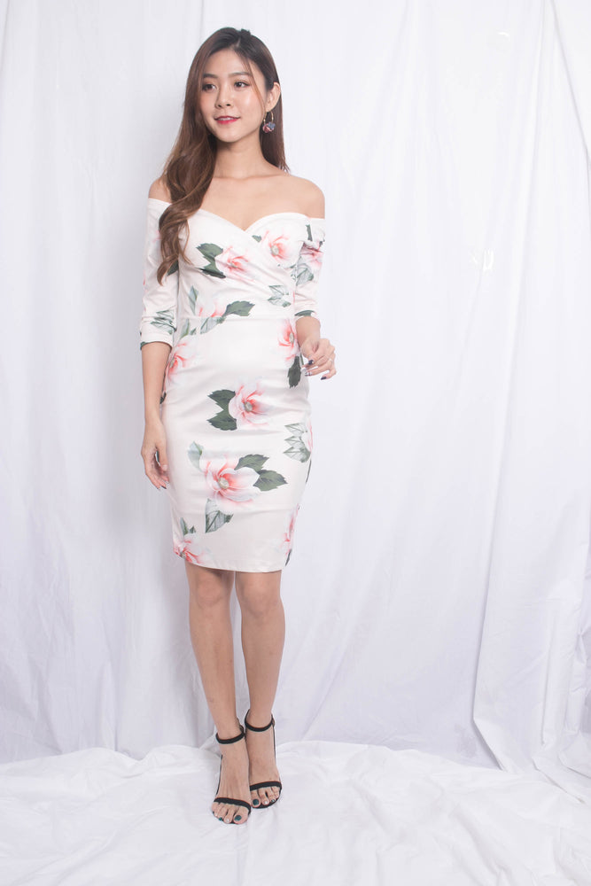 Rille Floral Bodycon Dress