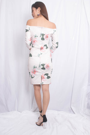 Load image into Gallery viewer, Rille Floral Bodycon Dress