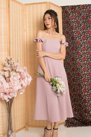 * PREMIUM* - Jujulia Two Ways Midi Dress in Nude Pink - Self Manufactured by LBRLABEL