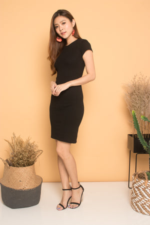 Scarlette Sleeved Dress in Black