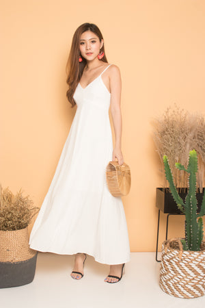 * LUXE * Fannie Maxi Dress in White