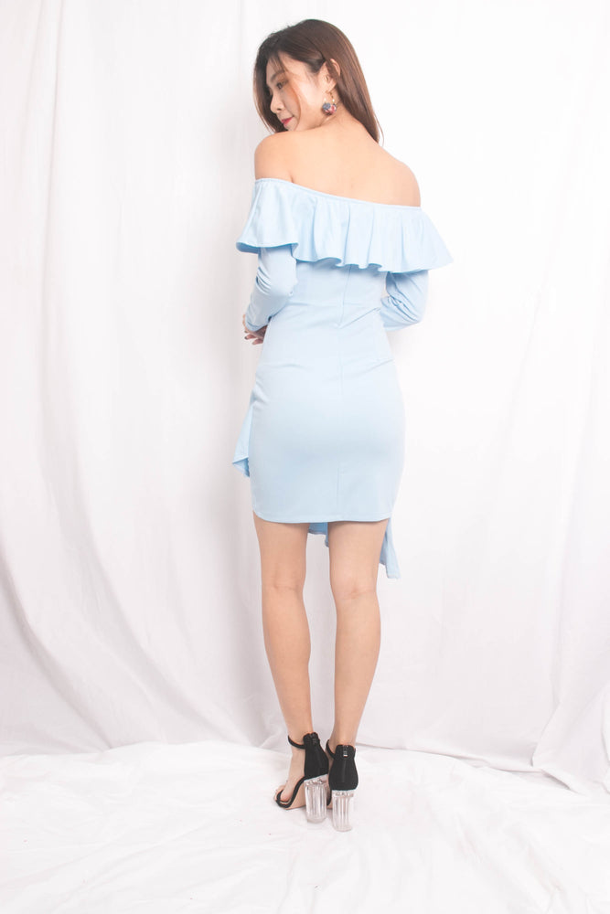 Load image into Gallery viewer, Teena Flutter Dress in Blue