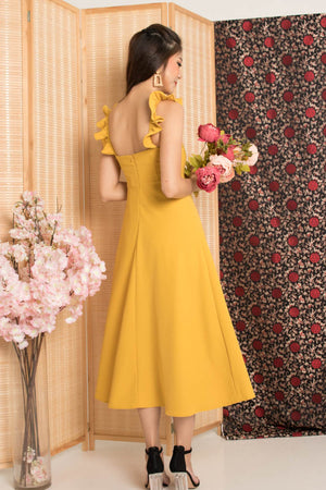 * PREMIUM* - Jujulia Two Ways Midi Dress in Sunshine - Self Manufactured by LBRLABEL