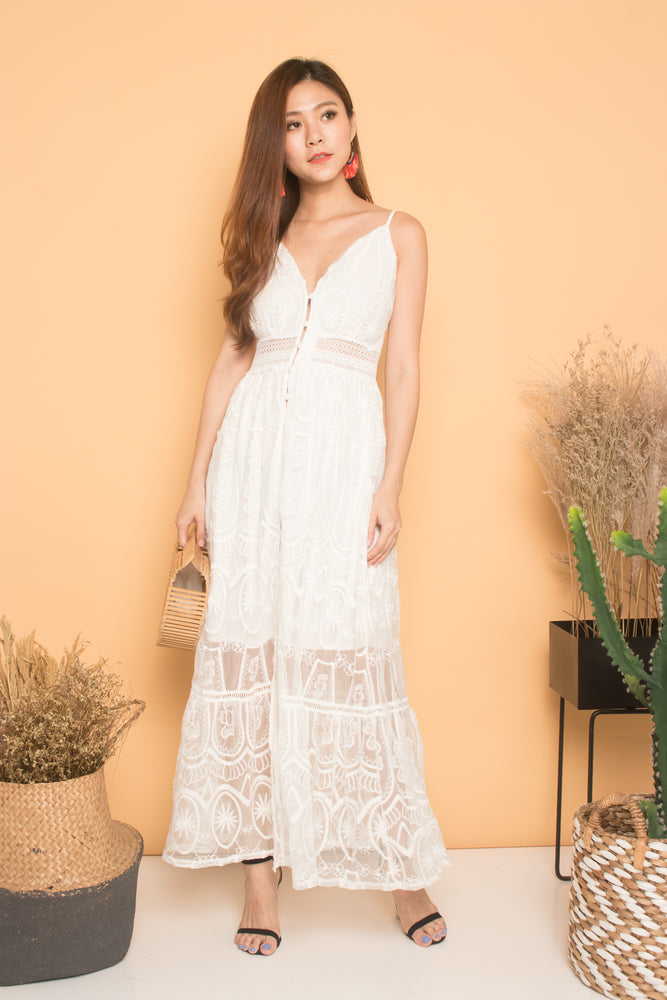 * LUXE * Renee Crochet Lace Maxi Dress