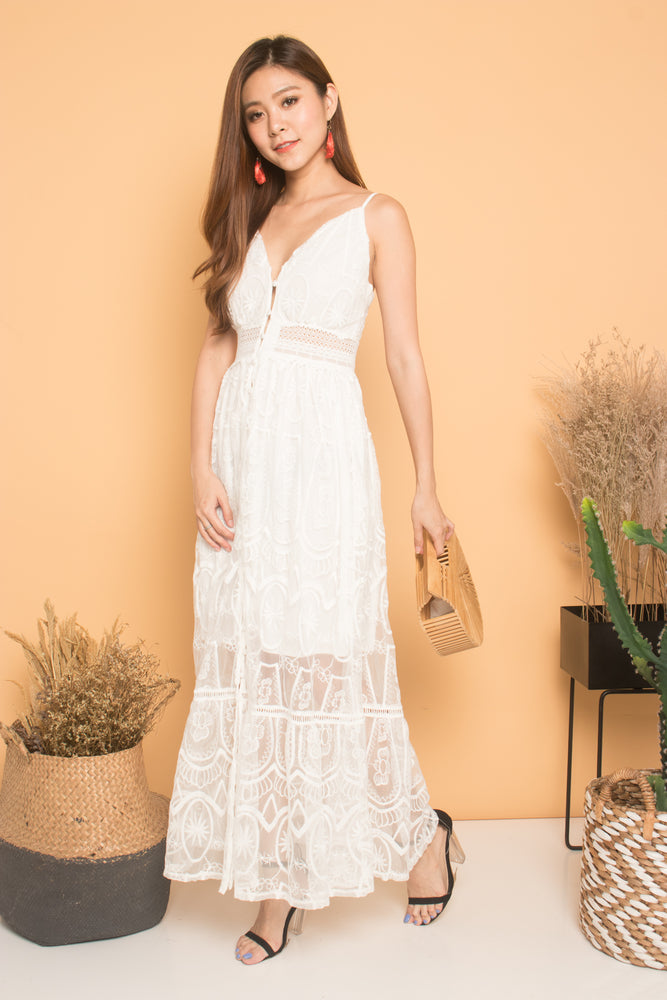 Load image into Gallery viewer, * LUXE * Renee Crochet Lace Maxi Dress