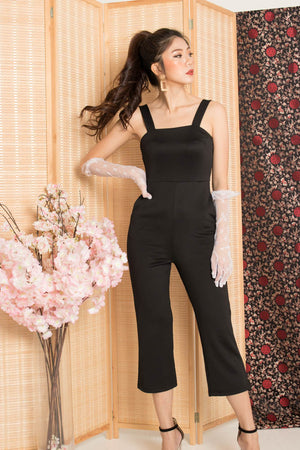* PREMIUM * - Stacelia Midi Jumpsuit in Black - Self Manufactured by LBRLABEL