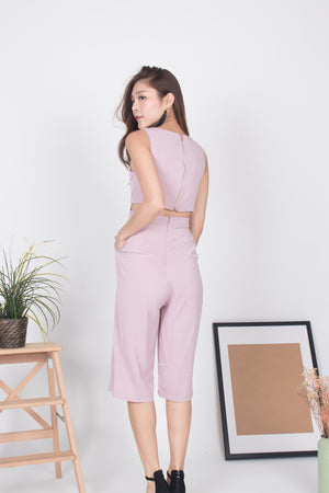 Load image into Gallery viewer, Marissa Zipper Midi Romper in Pink
