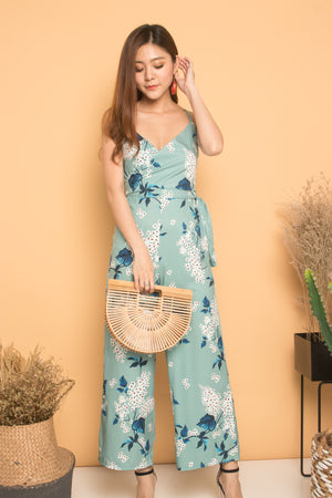 Hendra Floral Jumpsuit in Mint