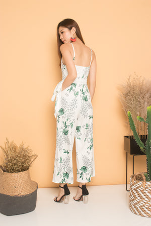 Hendra Floral Jumpsuit in White