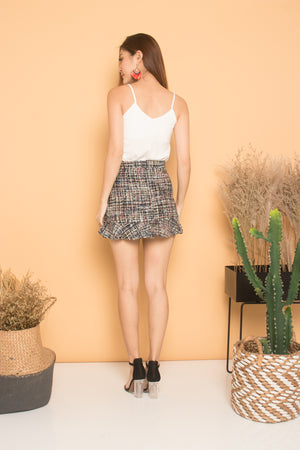 Zerah Tweed Skirt in Black