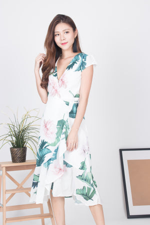 Willynn Floral Wrapped Dress