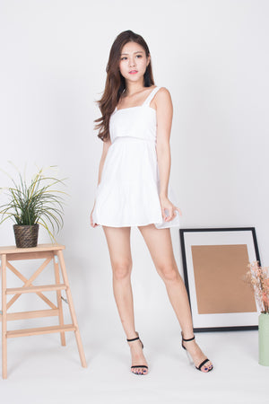 (BO) Ashrilyn Layer Dress in White
