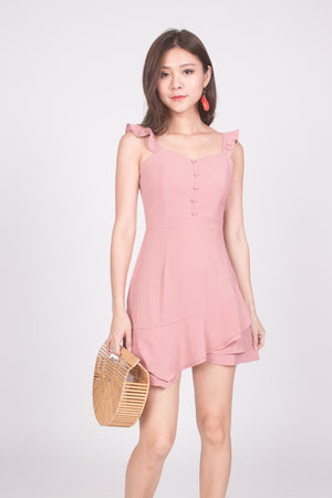 (BO) Orelia Flutter Dress in Pink