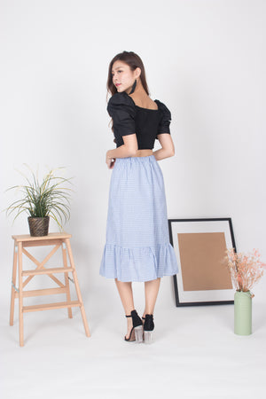 Joanna Gingham Skirt in Blue