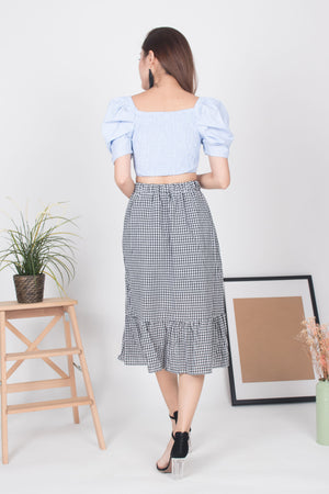 Joanna Gingham Skirt in Black