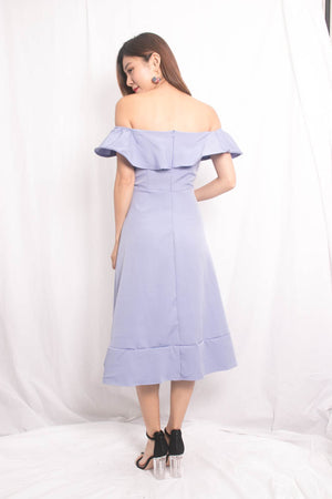 (BO) Molly Offsie Flutter Dress in Lilac