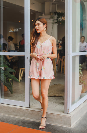 *PREMIUM* - Mesilia Floral Romper in Pink - Self Manufactured by LBRLABEL