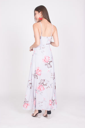 *LUXE* Glennda Floral Ribbon Maxi Dress