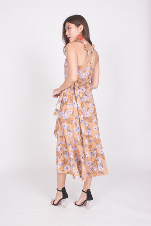 *LUXE* Queenni Floral Midi Dress