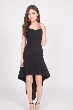 * PREMIUM * Amarilia Fishtail Dress in Black -  LBRLABEL MANUFACTURED