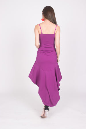 Load image into Gallery viewer, * PREMIUM * Amarilia Fishtail Dress in Magenta -  LBRLABEL MANUFACTURED
