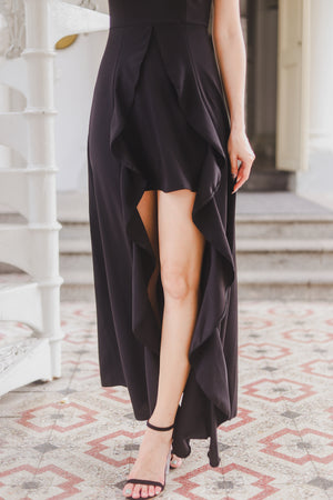 *PREMIUM* Elva Gown Dress in Black