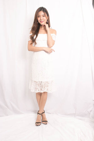 Callina Crochet Dress in White
