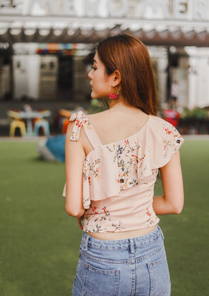 *PREMIUM* - Plerilia Floral Toga Top in Khaki - Self Manufactured by LBRLABEL only
