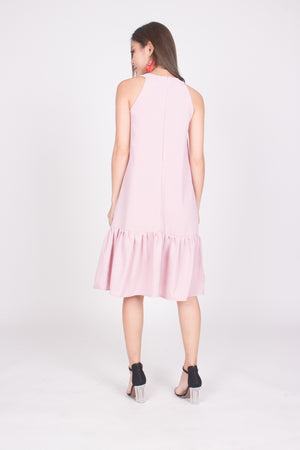 Heiley Halter Dress in Pink